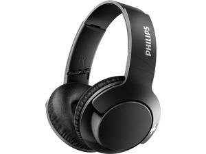 Philips SHB3175BK BASS+ Wireless Bluetooth Closed-Back Over-Ear Headphones with Mic - Black