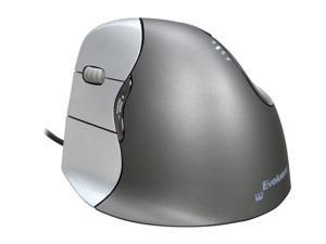 Evoluent VM4L Silver/Black 1 x Wheel USB Wired Laser Vertical Mouse Left Handed