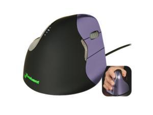 Evoluent VM4S Purple 6 Buttons 1 x Wheel USB Wired Laser VerticalMouse 4 Small