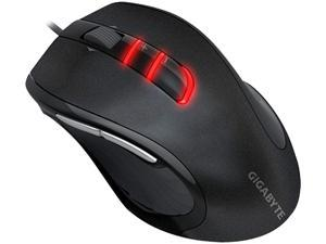 GIGABYTE M6900 GM-M6900A Metallic Black 7 Buttons Tilt Wheel USB Wired Optical Gaming Mouse