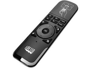 Adesso WKB-4010UB 2.4 GHz wireless Air mouse Remote to control Smart TV, Android TV box, Projector, Playstation, Gaming Consoles, Slideshows & Presentations