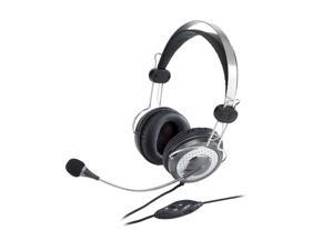 Genius HS-04SU 3.5mm Connector Circumaural Headband Headset with Noise-canceling Microphone