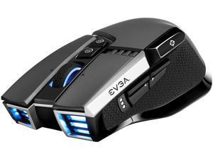 EVGA X20 Gaming Mouse, Wireless, Grey, Customizable, 16,000 DPI, 5 Profiles, 10 Buttons, Ergonomic 903-T1-20GR-KR