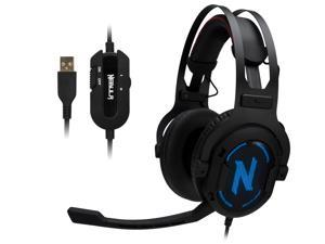 Rosewill 7.1 Surround Sound Gaming Headset, RGB Noise Isolation Headphones, Memory Foam Ear Pads and Microphone - NEBULA GX60