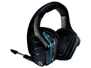 Logitech Certified Refurbished G933 Artemis Spectrum (981-000585) 2.4 GHz Wireless and Capable 3.5mm / USB Wired RGB 7.1 DTS Surround Gaming Headset - Multi-Source 20 Hz - 20 KHz