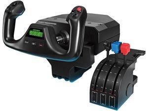 Logitech Flight Yoke System Professional Simulation Yoke and Throttle Quadrant