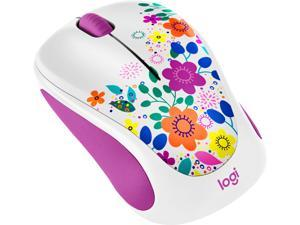 Logitech Design Collection 910-005839 3 Buttons 1 x Wheel USB RF Wireless Optical Mouse, Spring Meadow