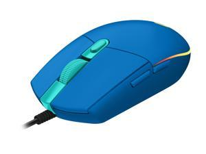 Logitech G203 LIGHTSYNC 910-005792 Blue 6 Buttons 1 x Wheel USB Wired Gaming Mouse
