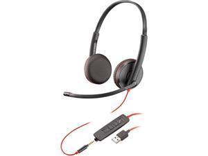 PLANTRONICS Blackwire 3225 3.5mm/ USB Connector Supra-aural Binaural, Over the Head Headset