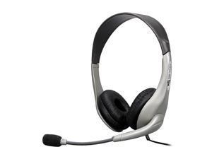 Cyber Acoustics AC851B USB Connector Circumaural Stereo Headset & Boom Mic