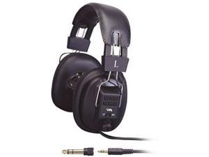 "Cyber Acoustics Black ACM-500RB 3.5 mm plug and 1/4"" adapter (included) Connector Circumaural Pro Series Headphone"