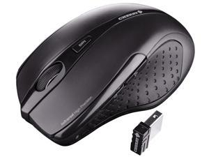 Cherry JW-T0100 Black 5 Buttons 1 x Wheel USB RF Wireless Ergonomic Mouse