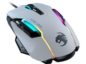 ROCCAT Kone AIMO Remastered ROC-11-820-WE White 1 x Wheel USB Wired Optical RGBA Smart Customization Gaming Mouse