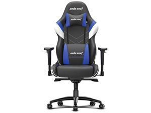 Anda Seat Assassin King Series High Back Ergonomic Gaming Chair - Black / White / Blue (AD4XL-03-BWS-PV-W02)