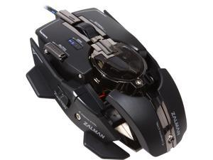 ZALMAN ZM-GM4 Custom Fit Black 8 Buttons USB Wired Laser 8200 dpi Gaming Mouse