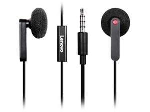 Lenovo Black 4XD0J65079 3.5mm Connector Canal In-Ear Headphones