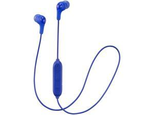 JVC HA-FX9BT Gummy Wireless Bluetooth In-Ear Headphone - Blue - HAFX9BTA