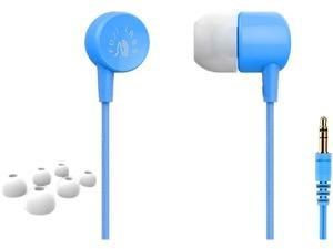 Fuji Labs Sonique SQ101 Designer In-Ear Headphones with In-line Mic, Blue
