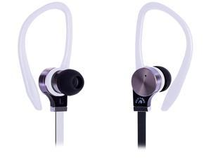 Fuji Labs White AUFJ-PSQWTS306WH 2nd Gen Sonique SQ306 Premium Pure Titanium In-Ear Headphones with In-line Mic