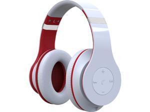 Fuji Labs White AUFJ-W-HD2000-WH Bluetooth Wireless HD2000 Professional Stereo Headphones