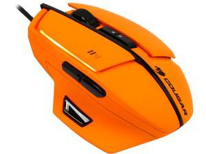 Cougar 600M Orange MOC600O 8200 dpi 16.8 Million Colors Gold Plated USB Laser Performance Gaming Mouse, 32bit ARM Processor 512KB On-Board Memory & UIX Interface System