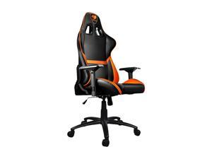 Cougar Armor (Orange) Gaming Chair with Breathable Premium PVC Leather and Body-embracing High Back Design