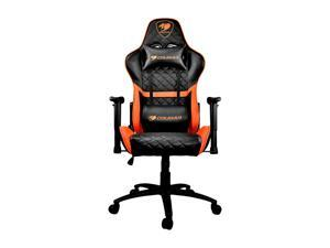 Cougar Armor One (Orange) Gaming Chair with Breathable Premium PVC Leather and Body-embracing High Back Design