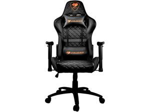 Cougar Armor One (Black) Gaming Chair with Breathable Premium PVC Leather and Body-embracing High Back Design