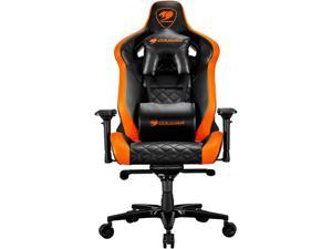 Cougar Armor Titan (Orange) Ultimate Gaming Chair with Premium Breathable PVC Leather, 352.0 lbs. Support, 170 Degree Reclining