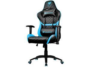 Cougar Armor One Blue Sky Gaming Chair with Breathable Premium PVC Leather and Body-embracing High Back Design