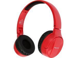 Pioneer SE-MJ553BT-R Over-Ear Wireless Stereo Headphones (Red)