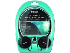 Maxell Silver/Black HP-200F 3.5mm Connector Supra-aural Lightweight Stereo Headphone