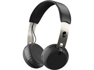 Skullcandy Black/Chrome S5GBW-J539 Grind Bluetooth Wireless On-Ear Headphones with Built-In Mic and Remote