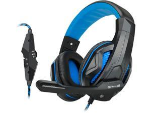ENHANCE GX-H2 Computer Gaming Headset with Noise Isolating Ear Pads, Adjustable Mic and Volume Control