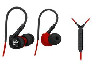 Mee audio Black/Red EP-SF6P-RDBK-MEE 3.5mm Connector Sport-Fi S6P Memory Wire In-Ear Earphones -