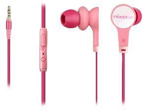 Nixeus Pink 3.5mm Connector Earbud Earphones (Pink)