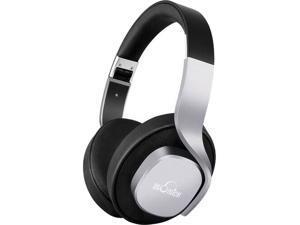 iDeaUSA Black/Silver V204 Circumaural Bluetooth Headphones Stereo Mega Bass Over Ear Headphones Foldable and Lightweight