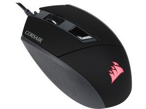 Corsair Gaming KATAR Gaming Mouse, Ambidextrous, Pro Player Modes, 8000 DPI, Backlit Red