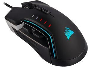 Corsair GLAIVE RGB PRO Comfort FPS/MOBA Gaming Mouse with Interchangeable Grips. Aluminum, Backlit RGB LED, 18000 dpi, Optical