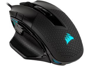 CORSAIR NIGHTSWORD RGB  Performance Tunable FPS/MOBA Gaming Mouse, Black, Backlit RGB LED, 18000 dpi, Optical