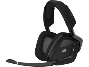 Corsair VOID RGB ELITE Wireless USB Type-A Connector Circumaural Premium Gaming Headset with 7.1 Surround Sound, Carbon
