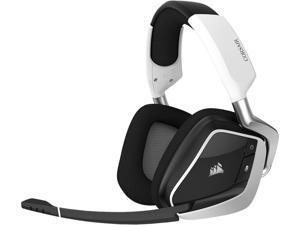 Corsair VOID RGB ELITE Wireless Circumaural Premium Gaming Headset with 7.1 Surround Sound, White