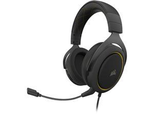 Corsair HS60 PRO SURROUND 3.5mm/ USB Connector Circumaural Gaming Headset, Yellow