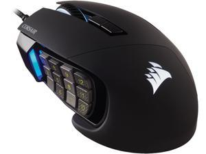 Corsair SCIMITAR RGB ELITE CH-9304211-NA Black 17 Buttons 1 x Wheel USB 2.0 Type-A Wired Optical MOBA/MMO Gaming Mouse, Backlit RGB LED