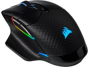 Corsair DARK CORE RGB PRO CH-9315411-NA Black 8 Buttons 1 x Wheel USB 2.0 Type-A SLIPSTREAM/Bluetooth Wireless, Wired Optical FPS/MOBA Gaming Mouse, Backlit RGB LED