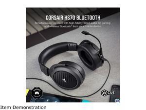 Corsair HS70 BLUETOOTH 3.5mm/ USB Connector Circumaural Multi-Platform Gaming Headset