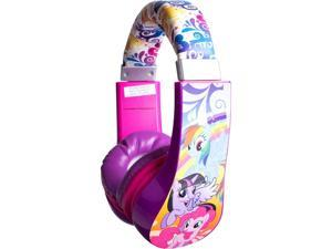 Sakar My Little Pony Kid Safe Over the Ear Cushioned Headphone w/Volume Limiter, 3.5MM Stereo Jack Pink Rainbow Horses Equestrian