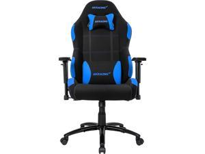 AKRacing Core Series EX Wide Fabric Gaming Chair, 3D Arms, 180 Degrees Recline - Black/Blue (AK-EXWIDE-BK/BL)