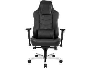 AKRacing Office Series Onyx Deluxe Leather Desk / Gaming Chair, 4D Adjustable Armrests, 180 Degrees Recline (AK-ONYXDELUXE)