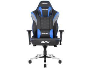 AKRacing Masters Series MAX PU Leather Gaming Chair, 4D Adjustable Armrests, 180 Degrees Recline - Blue (AK-MAX-BL)